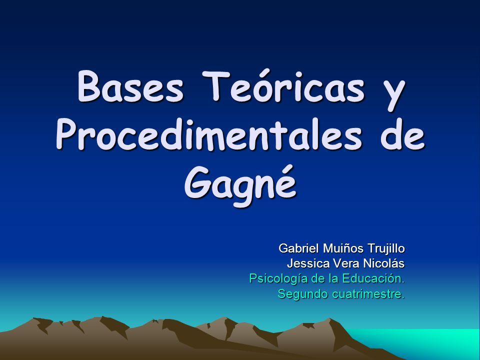 Bases Teóricas y Procedimentales de Gagné