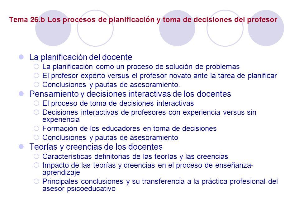 La planificación del docente