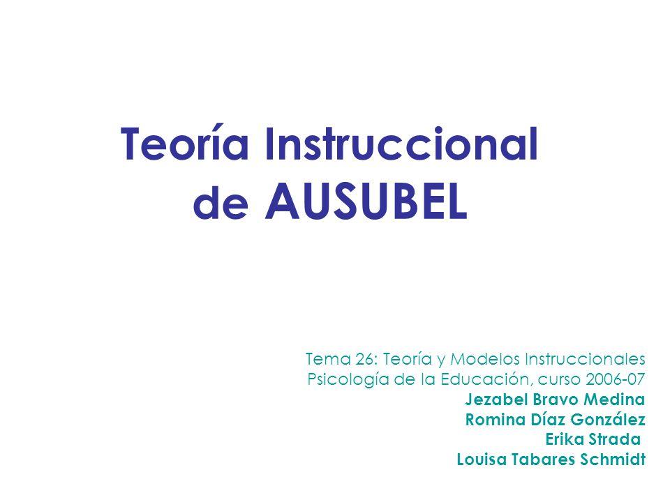 Teoría Instruccional de AUSUBEL