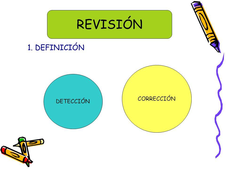 REVISIÓN 1. DEFINICIÓN CORRECCIÓN DETECCIÓN