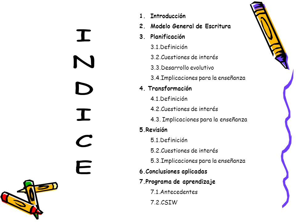 INDICE Introducción Modelo General de Escritura Planificación
