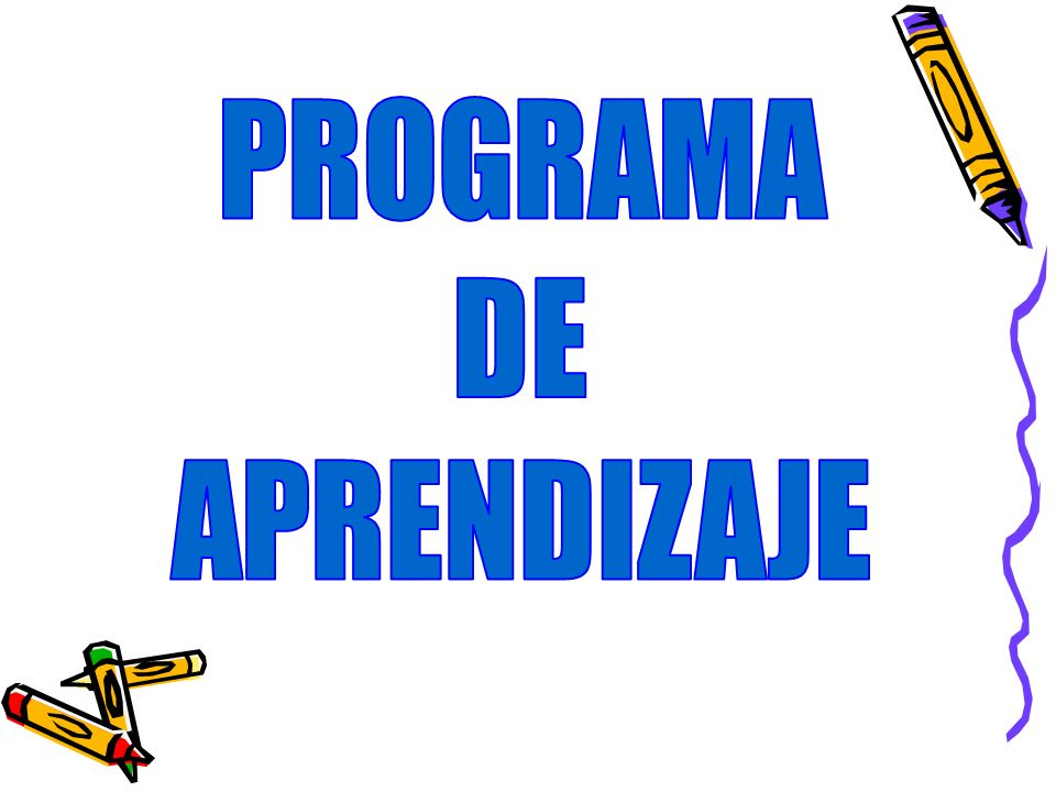 PROGRAMA DE APRENDIZAJE