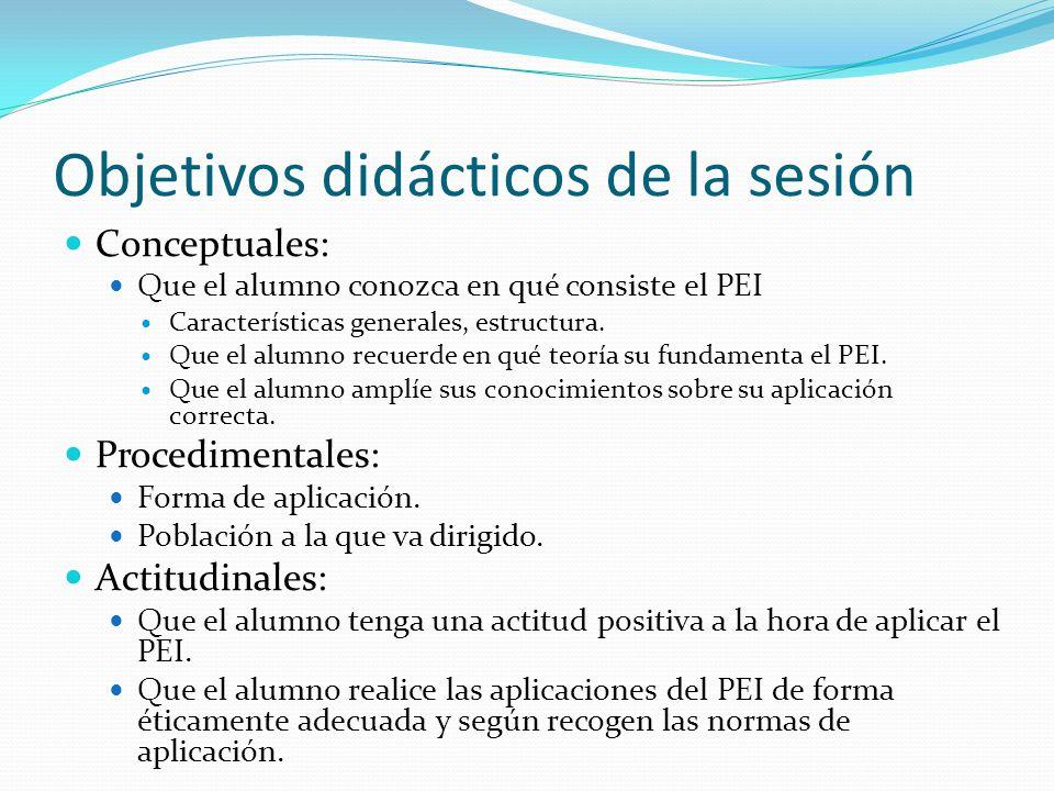 Objetivos didácticos de la sesión