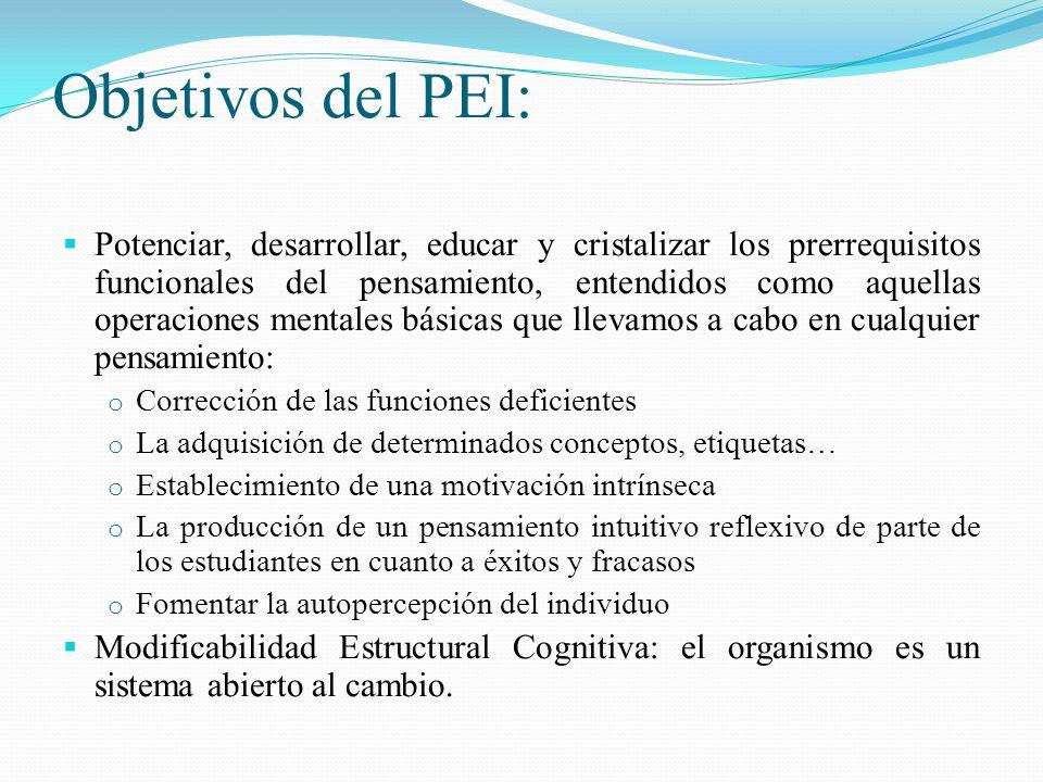 Objetivos del PEI: