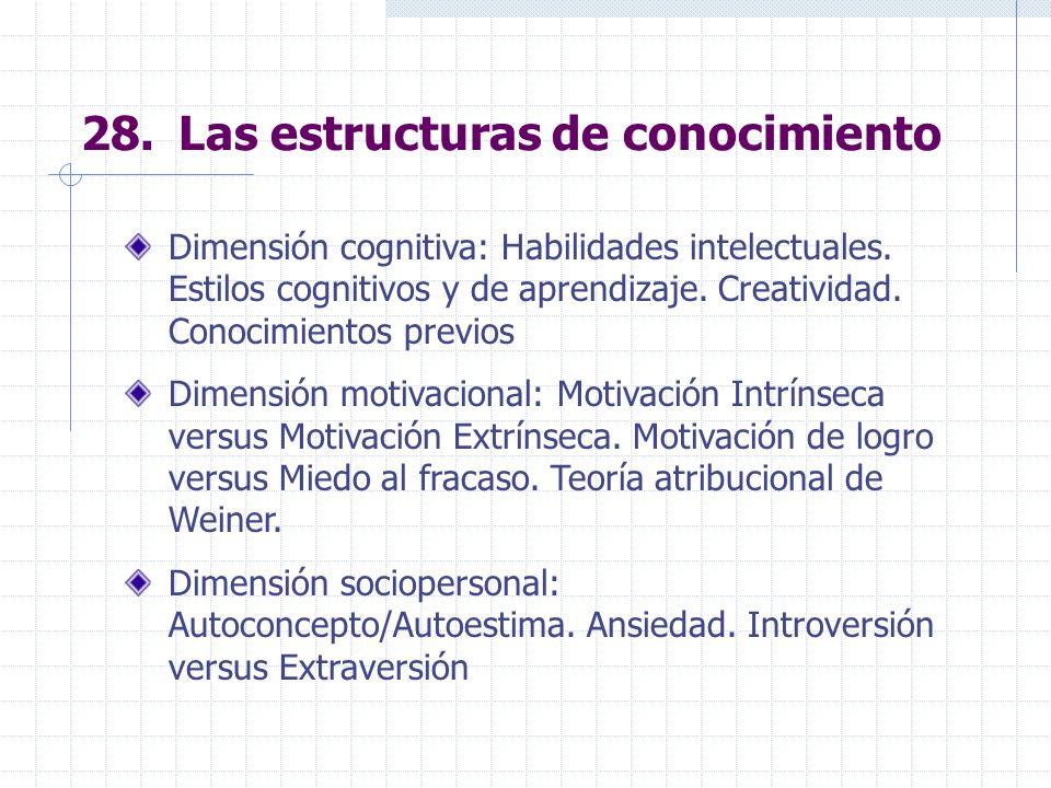 28. Las estructuras de conocimiento