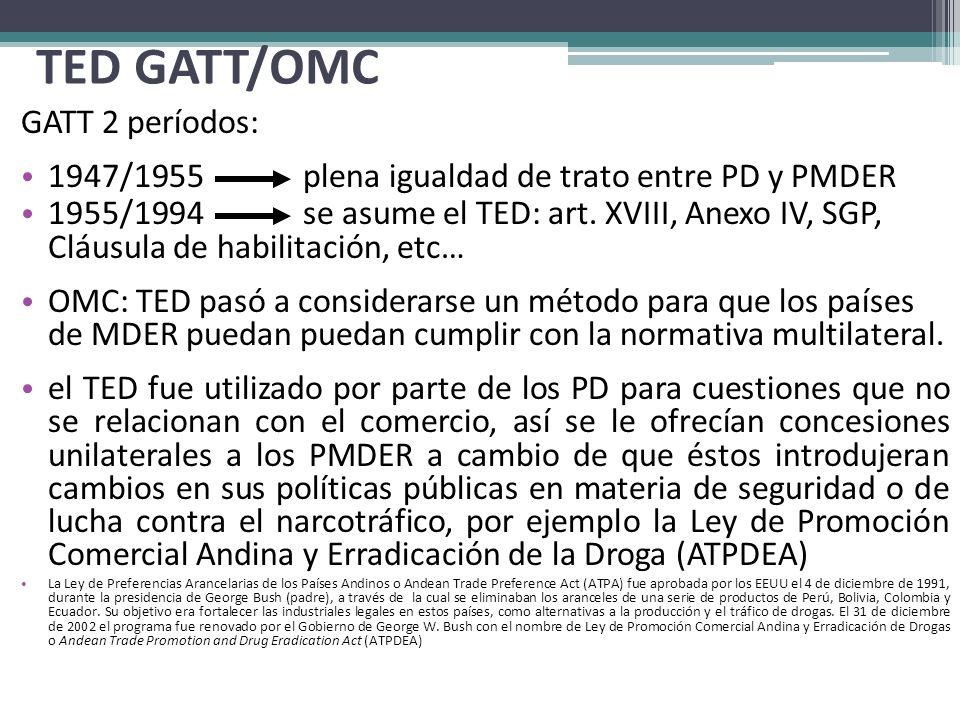 TED GATT/OMC GATT 2 períodos: