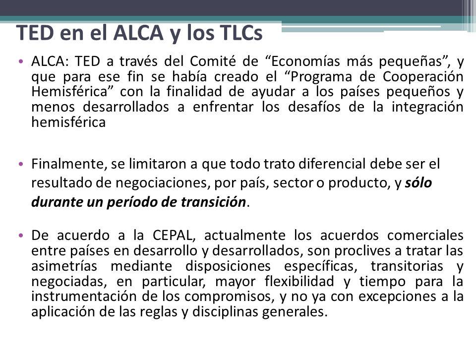 TED en el ALCA y los TLCs