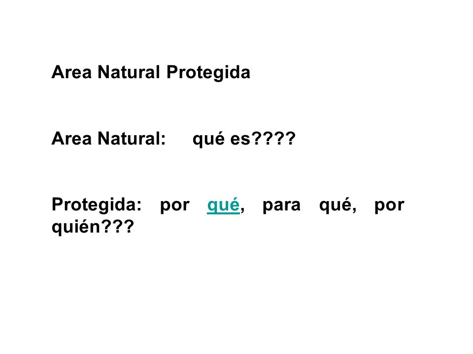 Area Natural Protegida