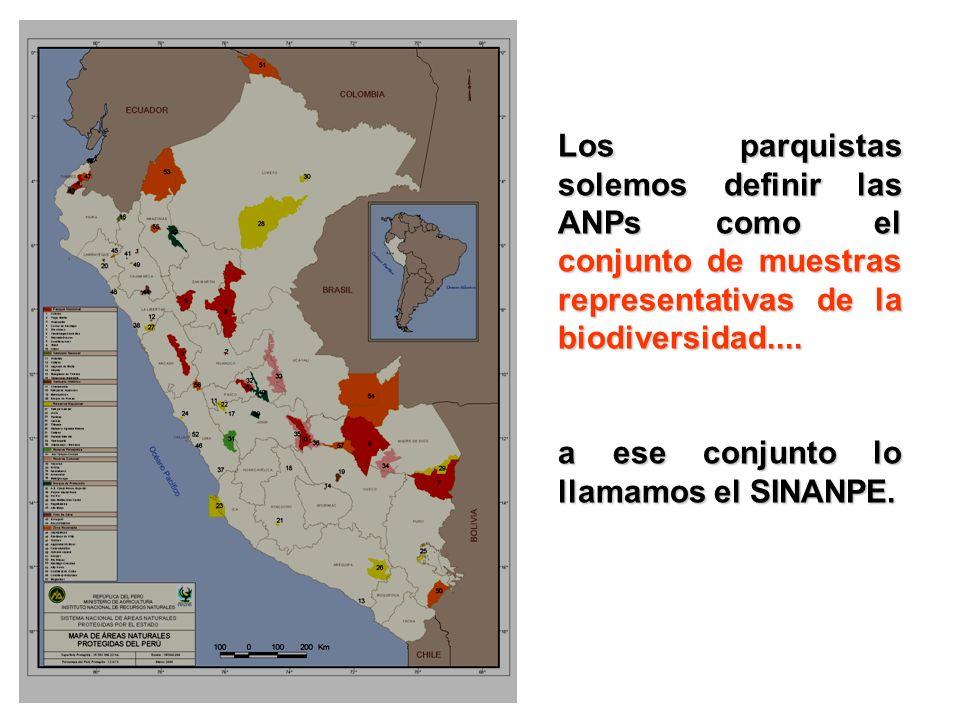 Los parquistas solemos definir las ANPs como el conjunto de muestras representativas de la biodiversidad....