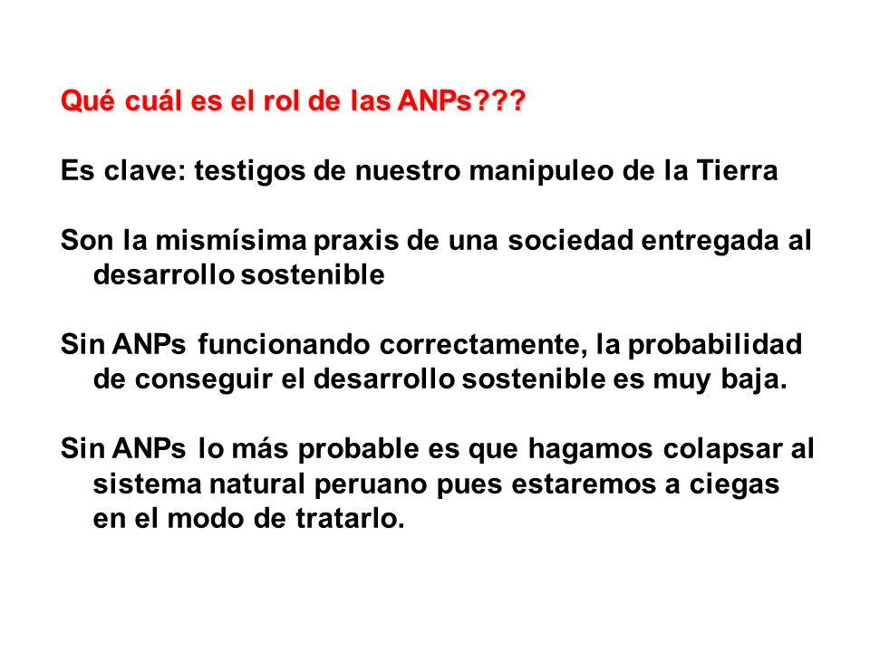 Qué cuál es el rol de las ANPs