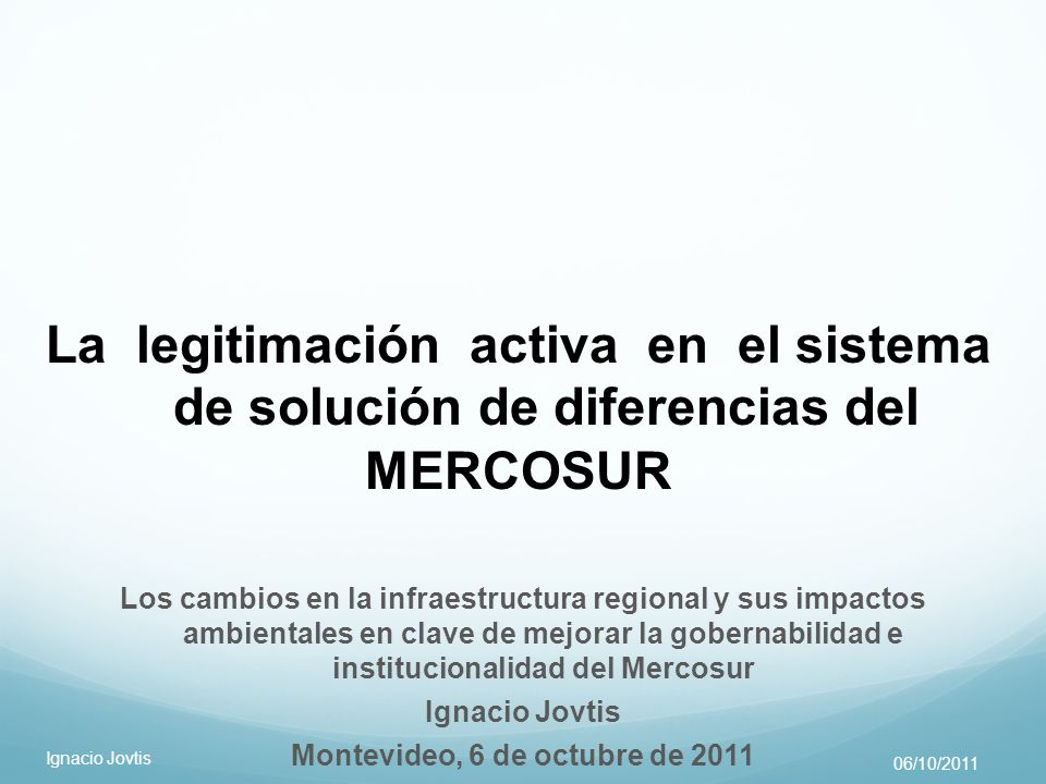 Montevideo, 6 de octubre de 2011