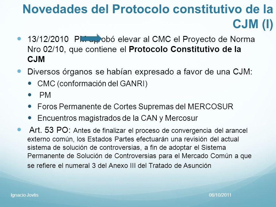 Novedades del Protocolo constitutivo de la CJM (I)