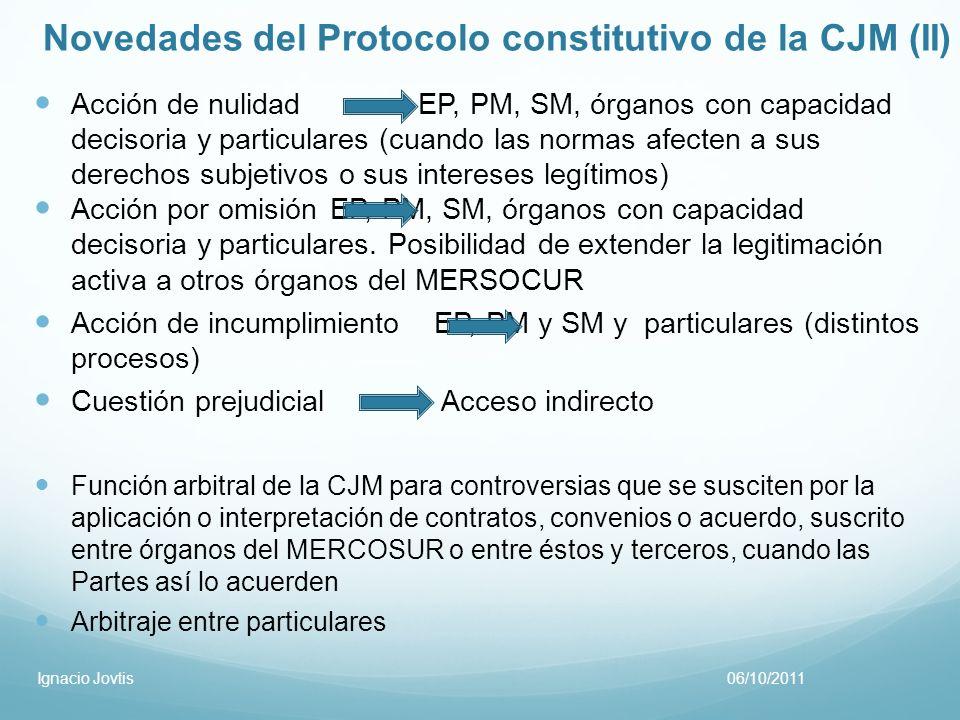Novedades del Protocolo constitutivo de la CJM (II)