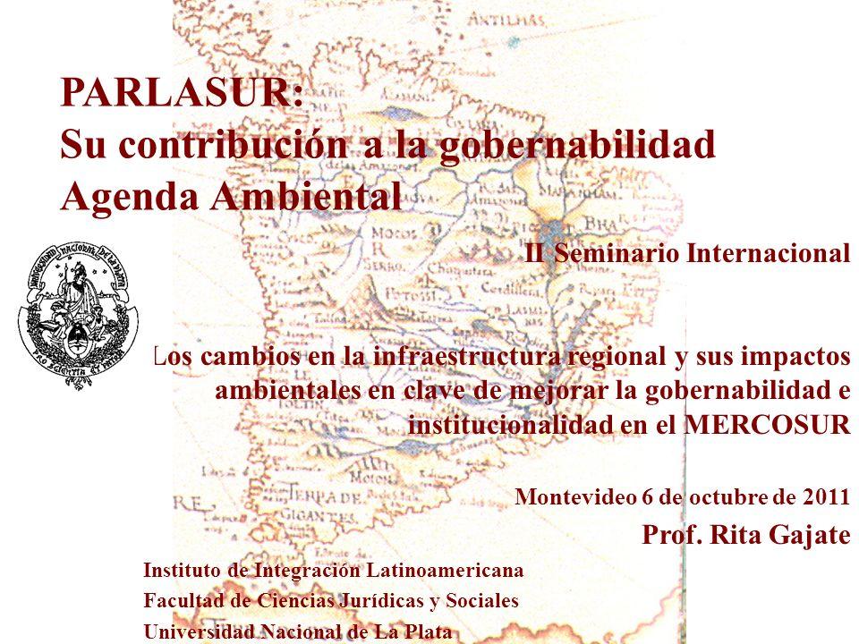 Su contribución a la gobernabilidad Agenda Ambiental
