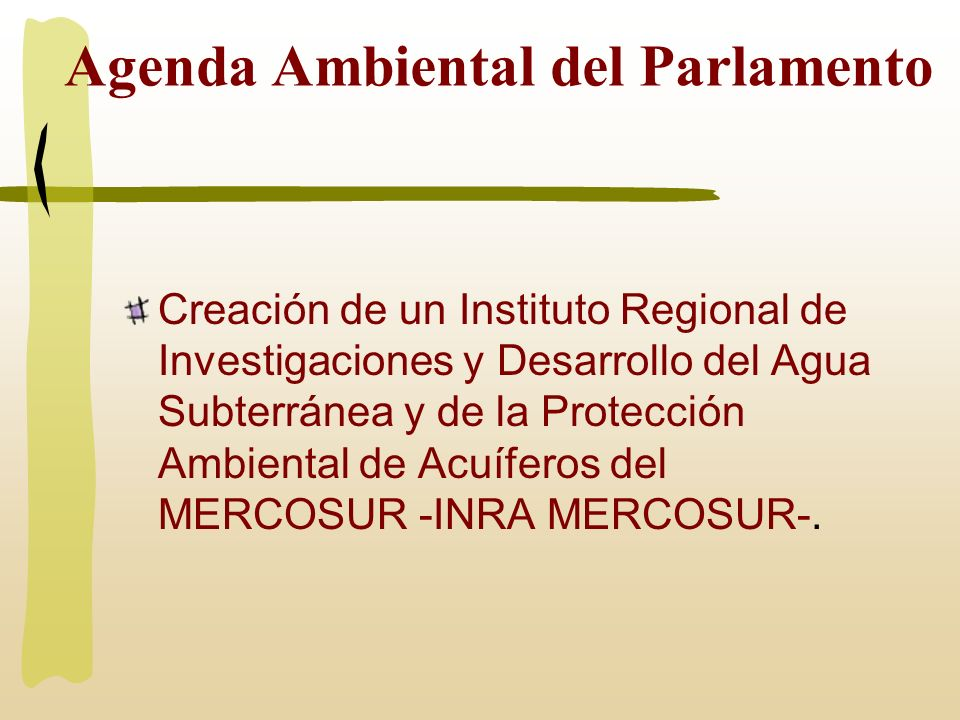 Agenda Ambiental del Parlamento