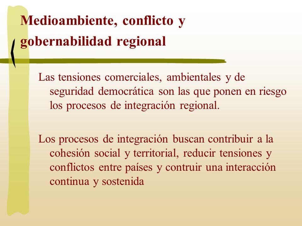 Medioambiente, conflicto y gobernabilidad regional