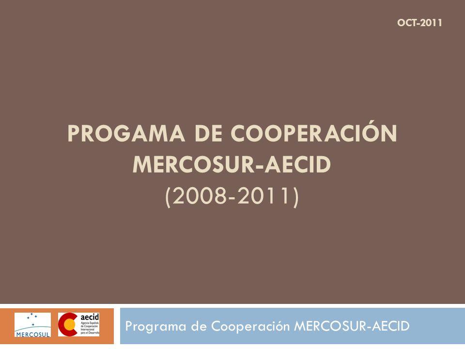 PROGAMA DE COOPERACIÓN MERCOSUR-AECID (2008-2011)