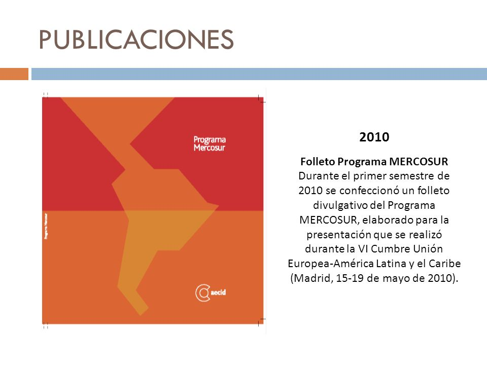 Folleto Programa MERCOSUR