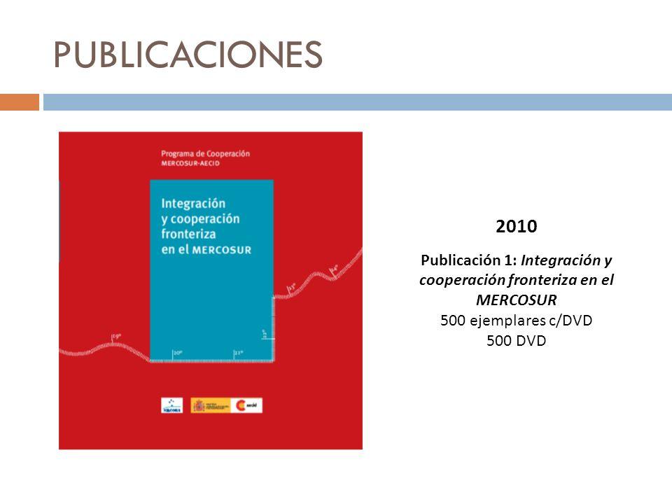 Publicación 1: Integración y cooperación fronteriza en el MERCOSUR