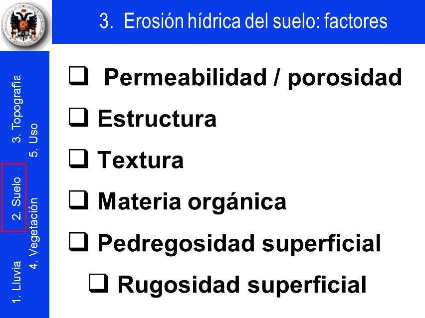 q Permeabilidad / porosidad