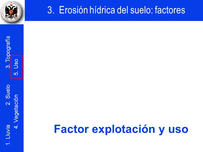 Factor explotación y uso