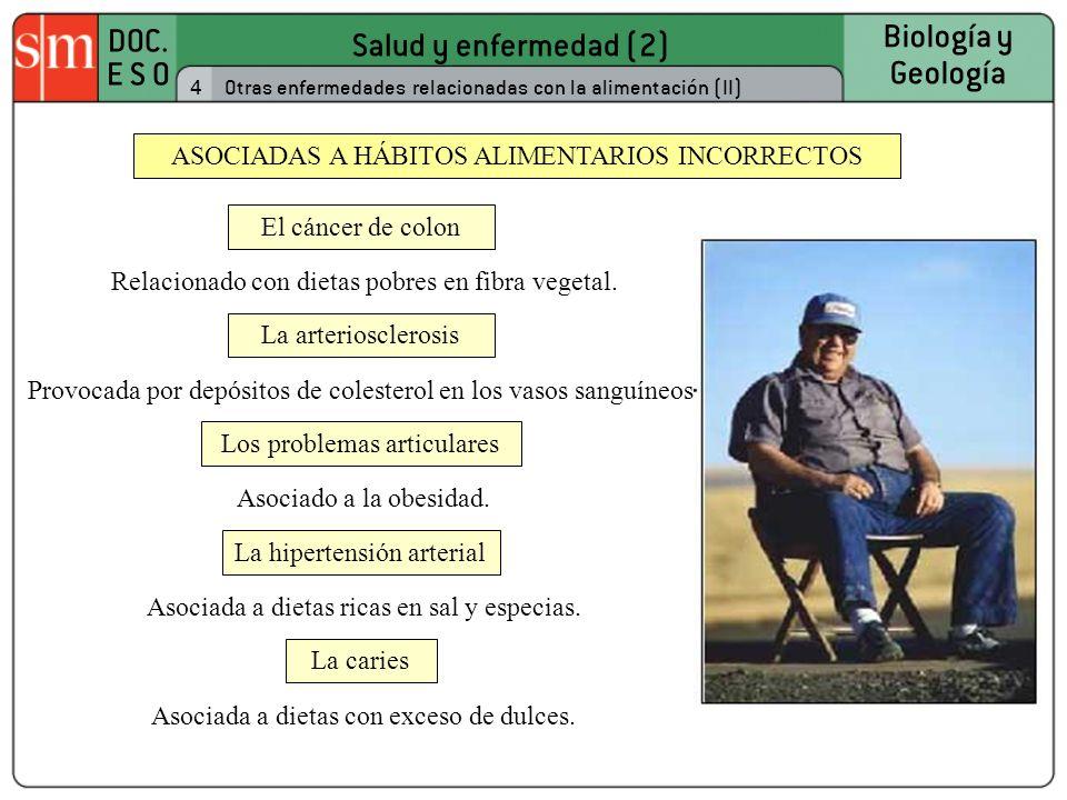 ASOCIADAS A HÁBITOS ALIMENTARIOS INCORRECTOS