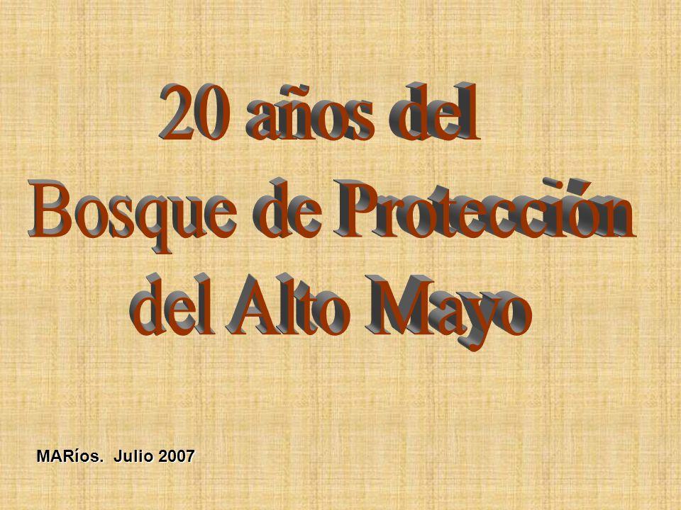 20 años del Bosque de Protección del Alto Mayo MARíos. Julio 2007