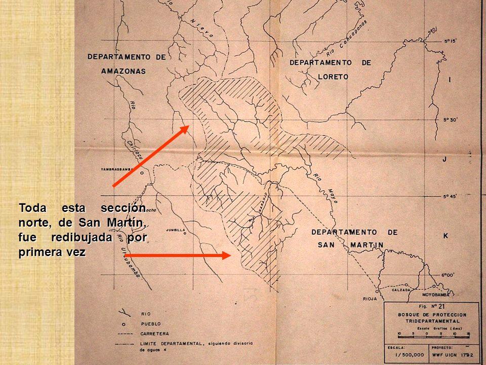 Toda esta sección norte, de San Martín, fue redibujada por primera vez