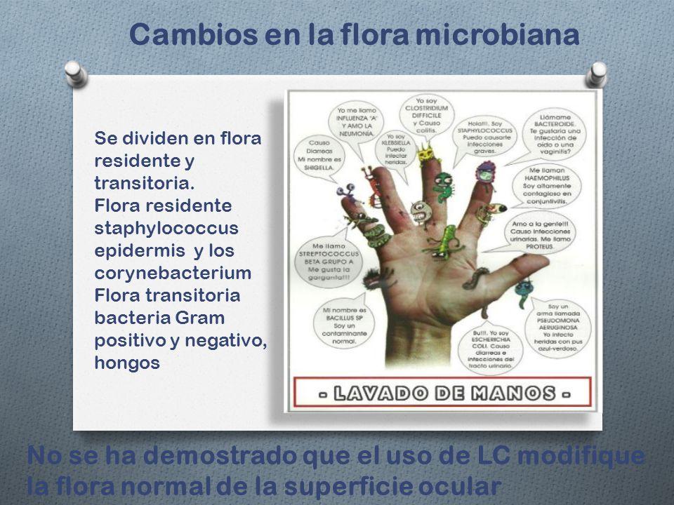Cambios en la flora microbiana