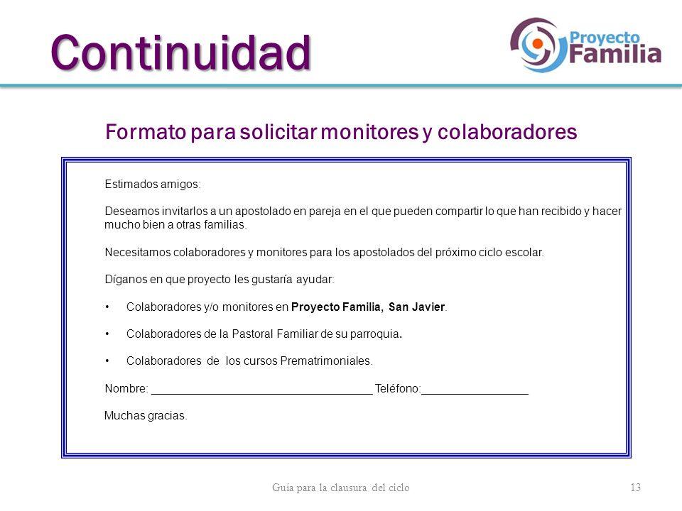Formato para solicitar monitores y colaboradores