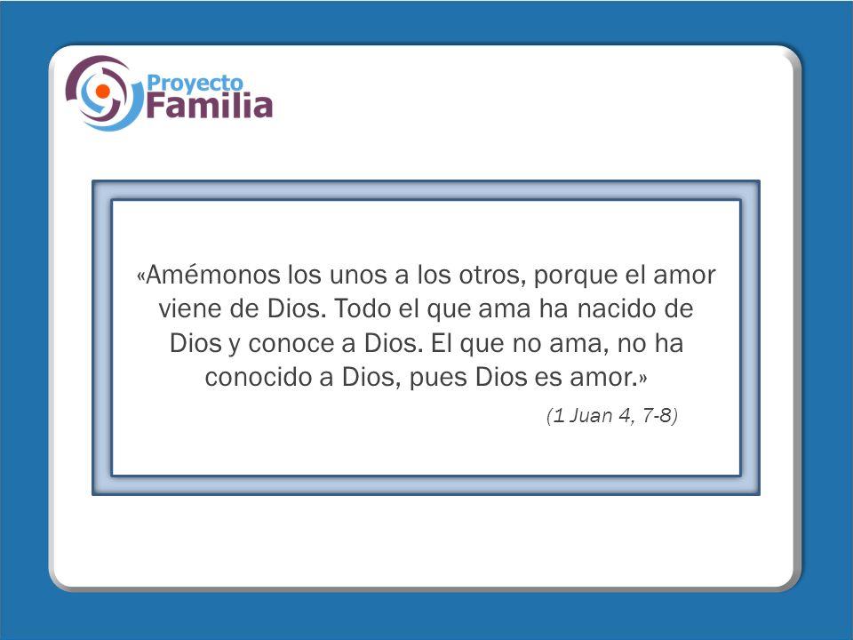«Amémonos los unos a los otros, porque el amor viene de Dios