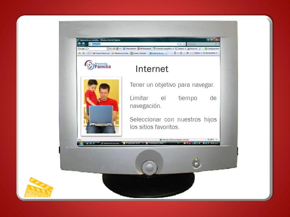 Internet Internet Tener un objetivo para navegar.
