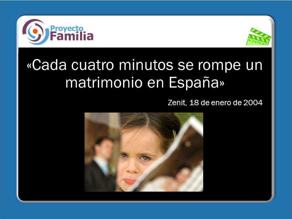 «Cada cuatro minutos se rompe un matrimonio en España»
