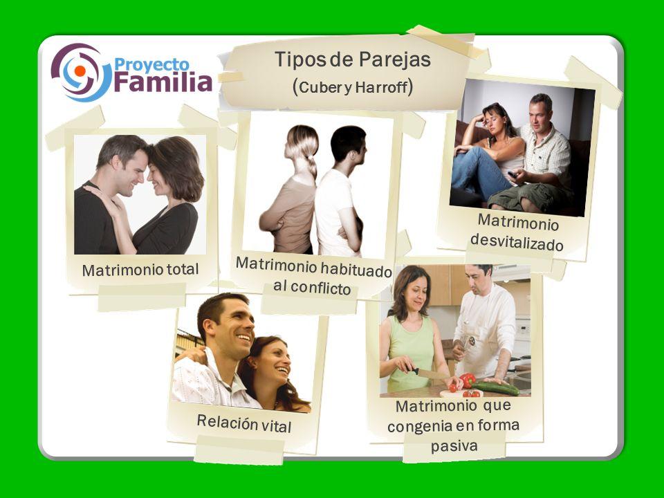 Tipos de Parejas (Cuber y Harroff) Matrimonio desvitalizado