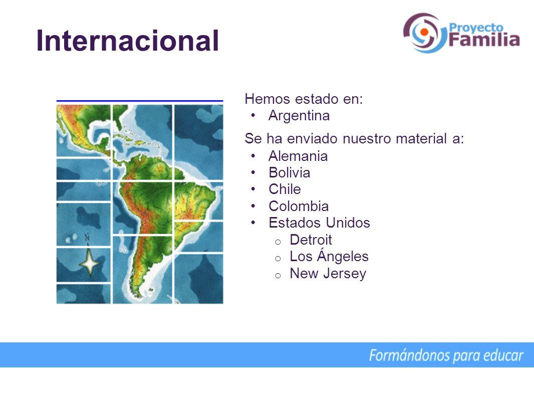 Internacional Hemos estado en: Argentina