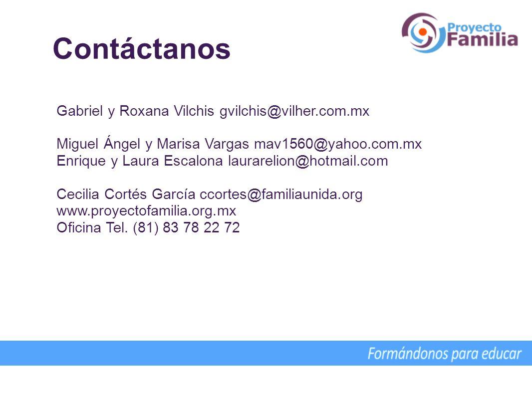 Contáctanos Gabriel y Roxana Vilchis gvilchis@vilher.com.mx