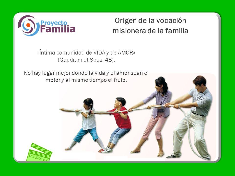 Origen de la vocación misionera de la familia