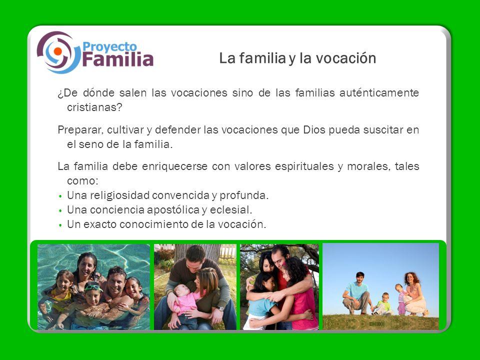 La familia y la vocación