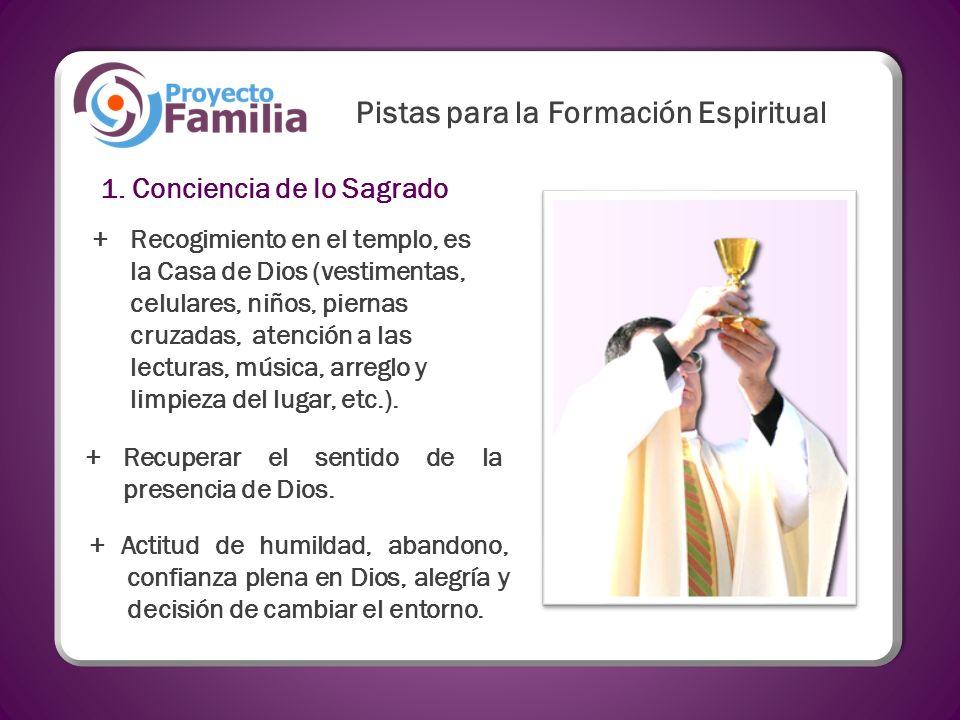Pistas para la Formación Espiritual