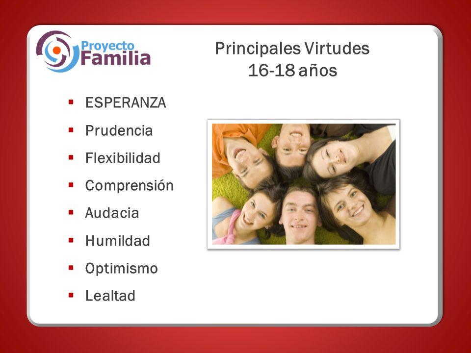 Principales Virtudes 16-18 años