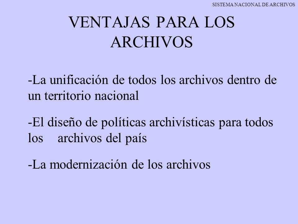 VENTAJAS PARA LOS ARCHIVOS