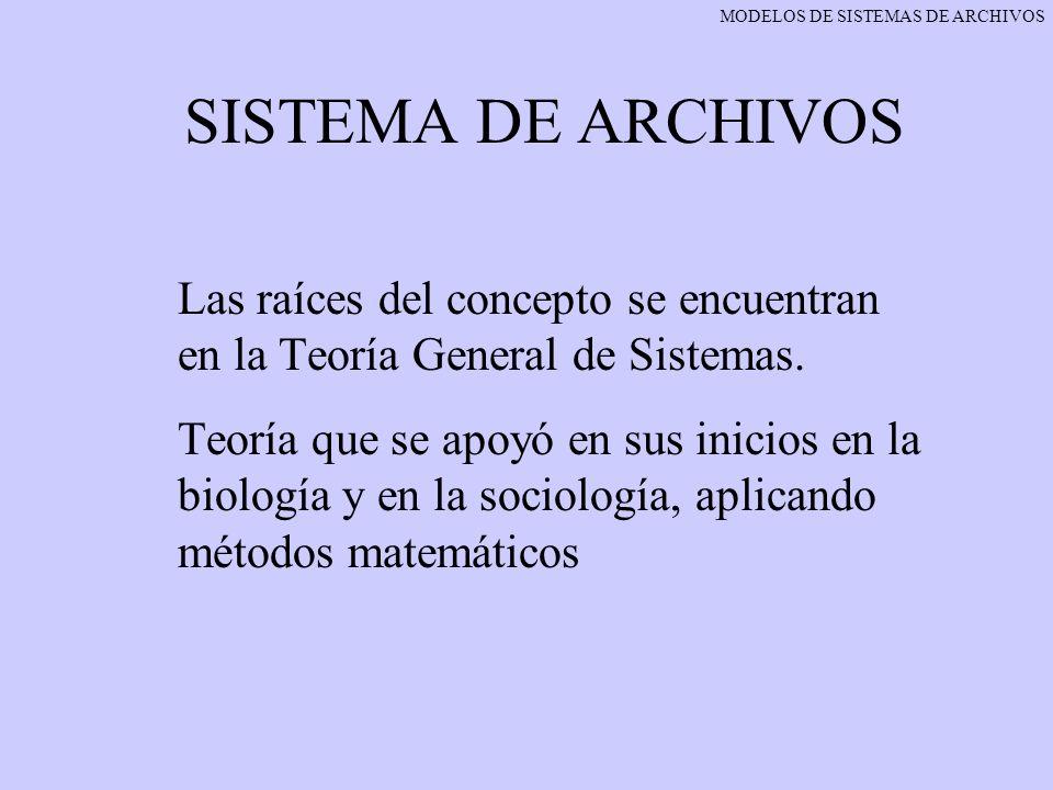MODELOS DE SISTEMAS DE ARCHIVOS