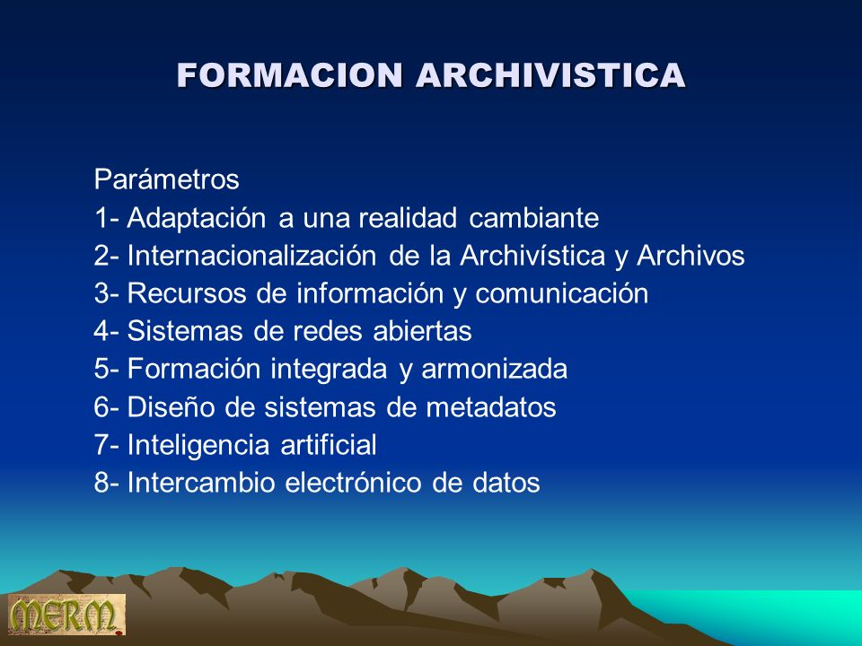 FORMACION ARCHIVISTICA