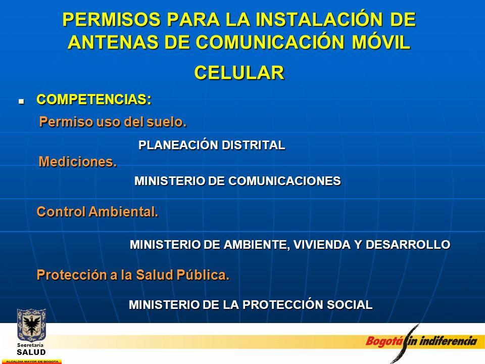 PERMISOS PARA LA INSTALACIÓN DE ANTENAS DE COMUNICACIÓN MÓVIL CELULAR
