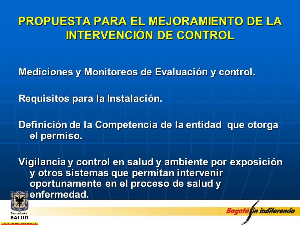 PROPUESTA PARA EL MEJORAMIENTO DE LA INTERVENCIÓN DE CONTROL