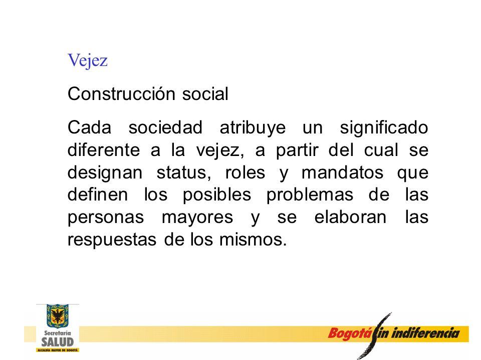 Vejez Construcción social.