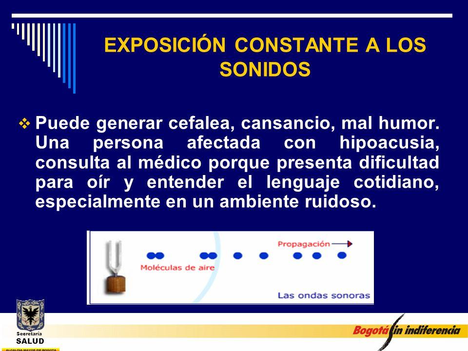 EXPOSICIÓN CONSTANTE A LOS SONIDOS