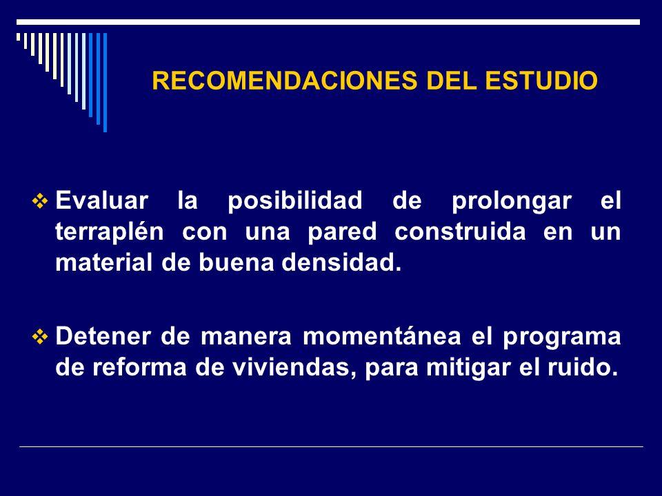 RECOMENDACIONES DEL ESTUDIO