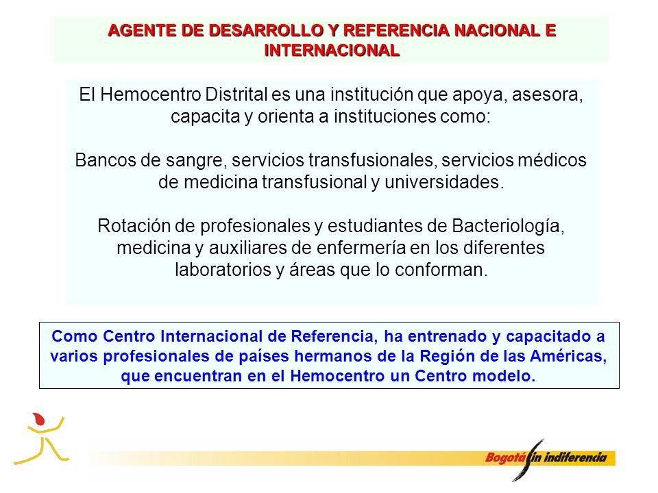 AGENTE DE DESARROLLO Y REFERENCIA NACIONAL E INTERNACIONAL