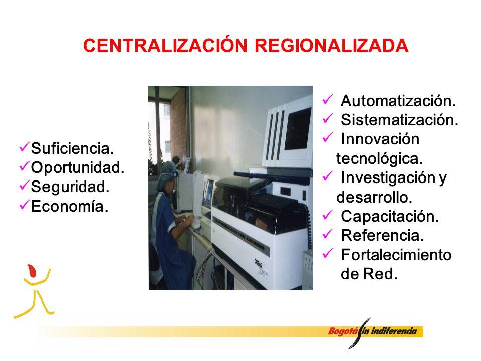 CENTRALIZACIÓN REGIONALIZADA